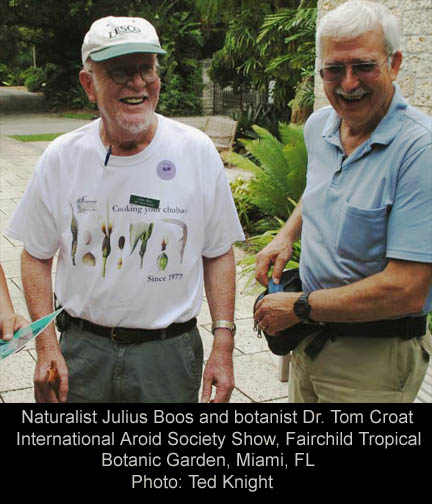 Julius Boos and Dr. Tom Croat
